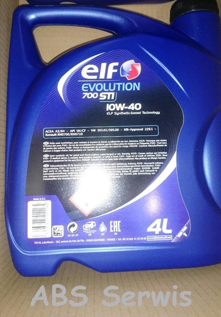 promocja olej ELF Evolution